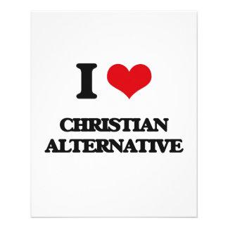 Eu amo o ALTERNATIVO CRISTÃO Panfletos Coloridos