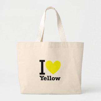 Eu amo o amarelo bolsa para compras