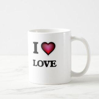 Eu amo o amor caneca de café