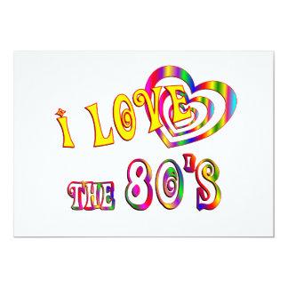Eu amo o anos 80 convite 12.7 x 17.78cm