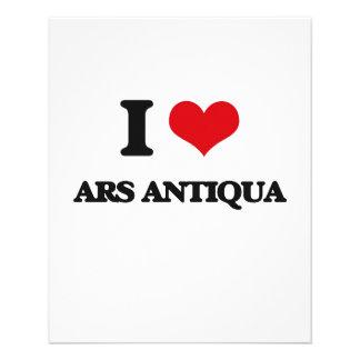 Eu amo o ARS ANTIQUA Panfletos Personalizados