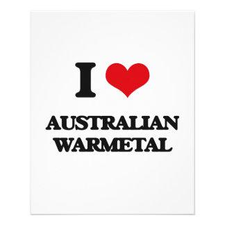 Eu amo o AUSTRALIANO WARMETAL Panfleto