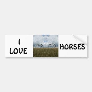 Eu amo o autocolante no vidro traseiro dos cavalos adesivo para carro