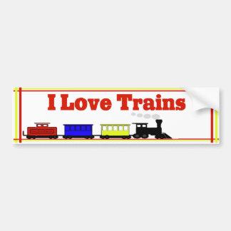 Eu amo o autocolante no vidro traseiro dos trens adesivo para carro