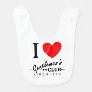 """Eu amo o babador """"Kirchheim """" do bebê do clube dos"""