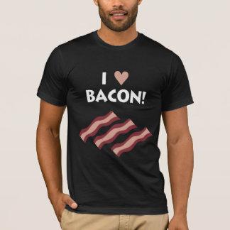 Eu amo o bacon - T escuro Camiseta