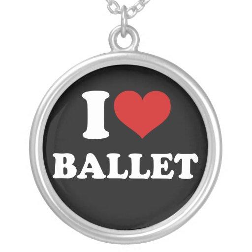 Eu amo o balé bijuteria