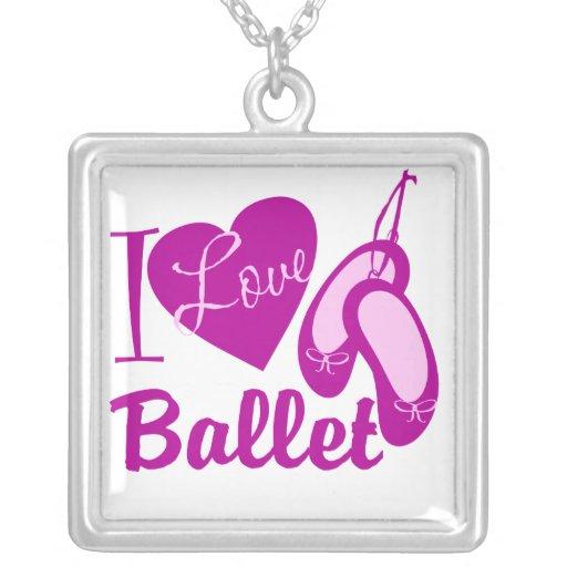 Eu amo o balé bijuterias