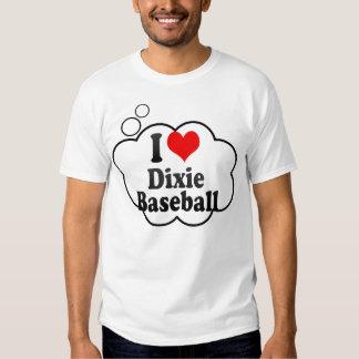 Eu amo o basebol de Dixie Camisetas