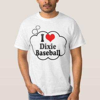 Eu amo o basebol de Dixie T-shirts