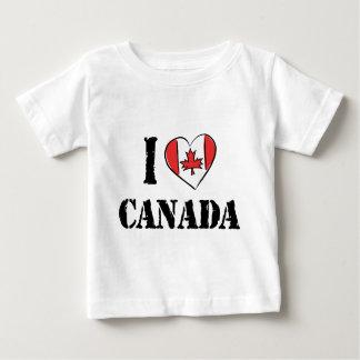 Eu amo o bebê da camisa de Canadá T