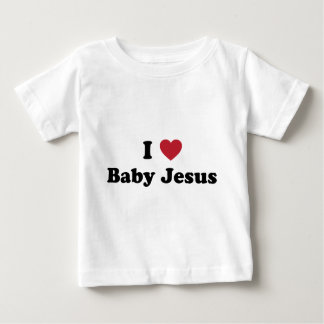 Eu amo o bebê jesus camiseta para bebê