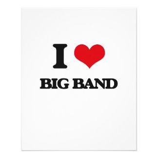 Eu amo o BIG BAND Panfletos Personalizados