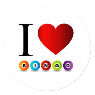 Eu amo o bingo convite quadrado 13.35 x 13.35cm