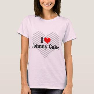 Eu amo o bolo de Johnny Camiseta