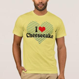 Eu amo o bolo de queijo camiseta