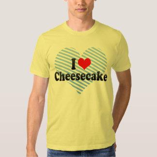 Eu amo o bolo de queijo tshirt
