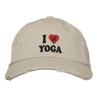 Eu amo o boné bordado ioga