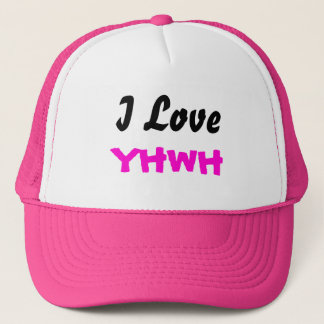 Eu amo o boné das senhoras de YHWH