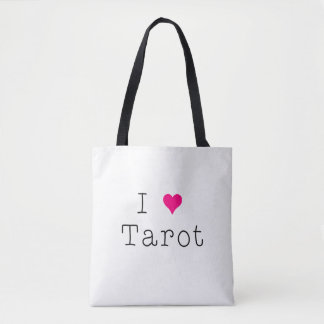 Eu amo o branco do bolsa de Tarot toda sobre -
