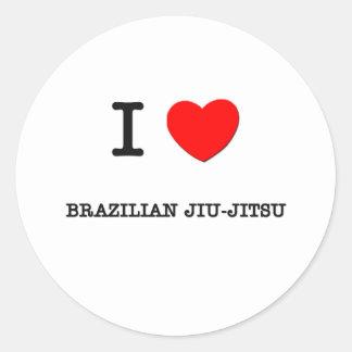 Eu amo o brasileiro Jiu-Jitsu Adesivo Em Formato Redondo