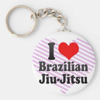 Eu amo o brasileiro Jiu-Jitsu Chaveiros