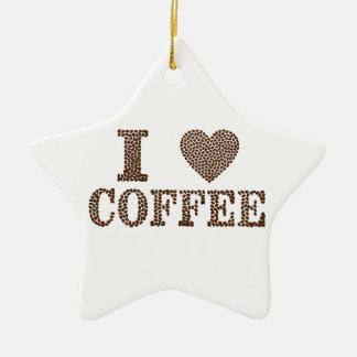 eu amo o café, coffeeholic ornamento de cerâmica