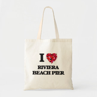 Eu amo o cais Texas da praia de Riviera Sacola Tote Budget