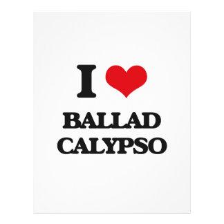 Eu amo o CALIPSO da BALADA Panfleto Coloridos
