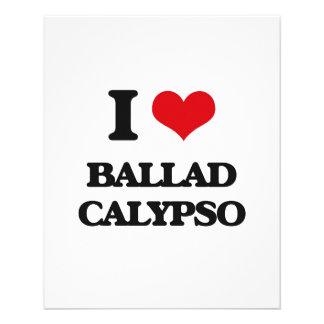 Eu amo o CALIPSO da BALADA Panfletos