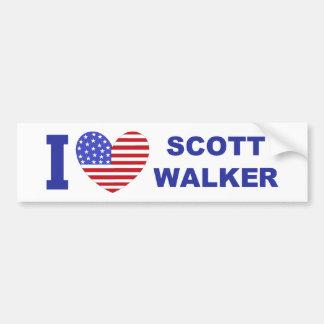 Eu amo o caminhante de Scott Adesivos