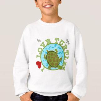 Eu amo o camiseta e os presentes das tartarugas