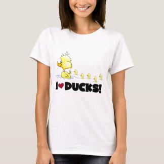 Eu amo o camiseta e os presentes dos patos