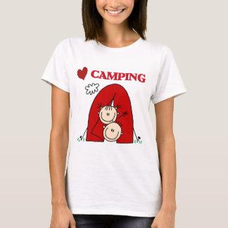 Eu amo o camiseta e presentes de acampamento