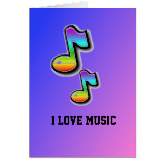 Eu amo o cartão da música