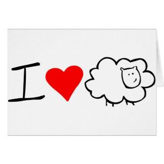 Eu amo o cartão da ovelha (você)