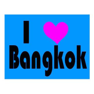 Eu amo o cartão de Banguecoque Tailândia