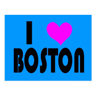 Eu amo o cartão de Boston