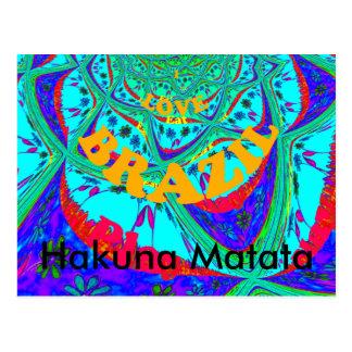 Eu amo o cartão de Brasil Hakuna Matata