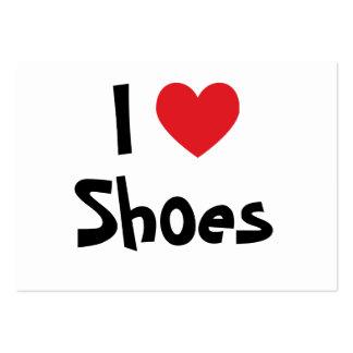 Eu amo o cartão de visita dos calçados