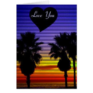 Eu amo o cartão de You_