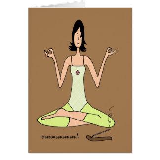 Eu amo o cartão do cumprimento/nota da ioga
