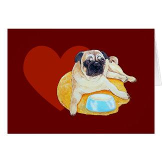 Eu amo o cartão dos Pugs