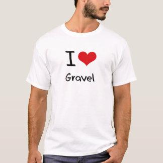 Eu amo o cascalho camiseta
