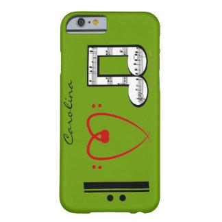 Eu amo o caso conhecido feito sob encomenda do capa barely there para iPhone 6