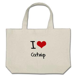 Eu amo o Catnip Bolsas De Lona