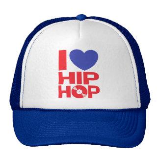 Eu amo o chapéu de Hip Hop Boné