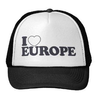 EU AMO o chapéu feito sob encomenda de EUROPA - es Boné