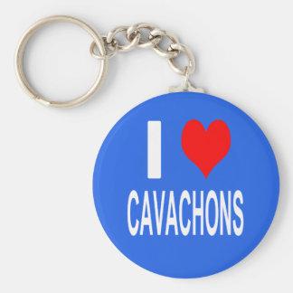 Eu amo o chaveiro de Cavachons, cão
