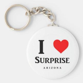 Eu amo o chaveiro do logotipo da surpresa